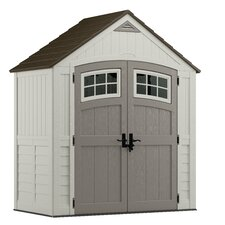 Cascade 7.38 ft. W x 3.93 ft. D Plastic Storage Shed