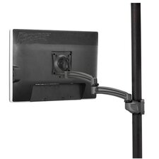 Kontour Pole Mount Articulating Arm, Single Monitor