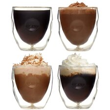 Moderna Artisan Series Double Wall 2 oz Insulated Beverage and Espresso Shot Glasses (Set of 4)
