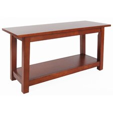 Craftsman Wood Storage Entryway Bench by Alaterre