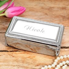 Personalized Sterling Jewelry Box