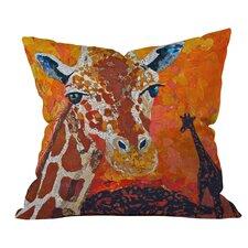 Giraffe Outdoor Throw Pillow by DENY Designs