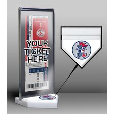 2013 ALCS Red Sox vs Tigers Ticket Display Stand