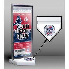 2013 World Series Cardinals vs Red Sox Ticket Display Stand