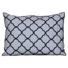 Pom Pom Embroidered Cotton Lumbar Pillow