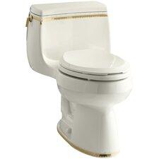 Prairie Flowers 1.28 GPF Comfort Height Elongated Toilet 1 Piece by Kohler