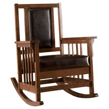 Valley Leatherette Arm Rocking Chair