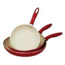 3 Piece Non-Stick Frying Pan Set