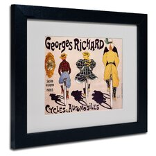 'Georges Richard Cycles & Automobiles' Framed Vintage Advertisement