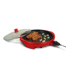 """Gourmet 14"""" Electric Indoor Grill with Lid"""