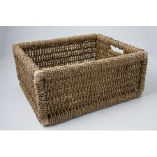 Twisted Rush Newspaper Basket (Set of 3)