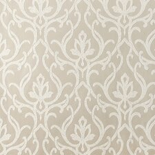 """Candice Olson Shimmering Details Dazzled 27' x 27"""" Damask Wallpaper"""