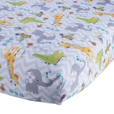 Yoo-Hoo Fitted Crib Sheet by Lambs & Ivy