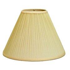 """Mushroom Pleat 19"""" Linen Empire Lamp Shade"""
