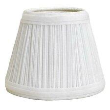 """Mushroom Pleat 11"""" Linen Empire Lamp Shade"""