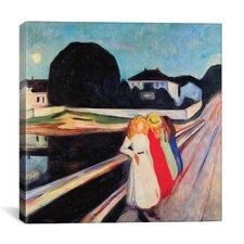 'Four Girls on a Bridge' by Edvard Munch on Canvas