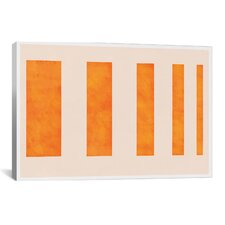 'Modern Art - Orange Levies' Graphic Art Print