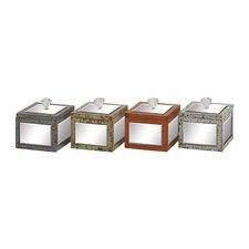 Striking Wood Mirror Jewelry Box (Set of 4)