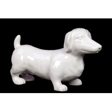 Lovely and Adorable Ceramic Dachshund Dog Sculpture