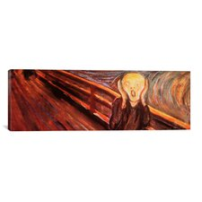 'The Scream' Panoramic by Edvard Munch Painting Print on Wrapped Canvas