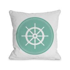 Polka Dot Wheel Throw Pillow