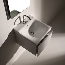 Buddy Ceramic 16Wall Mounted Bathroom Sink with Overflow by WS Bath Collections