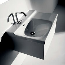 Buddy Ceramic 24Wall Mounted Bathroom Sink with Overflow by WS Bath Collections