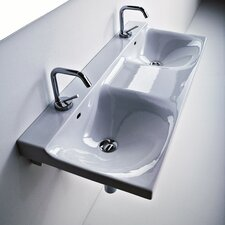 Buddy Ceramic 39 Wall mounted Bathroom Sink with Overflow by WS Bath Collections