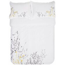 Reed 3 Piece Embroidered Reversible Duvet Set