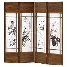 70 x 68 Shoji 4 Panel Room Divider by Wildon Home ®