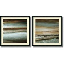 Lowtide/Hightide' by John Seba 2 Piece Framed Painting Print Set by Amanti Art