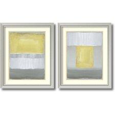 'Half Light' by Caroline Gold 2 Piece Framed Painting Print Set