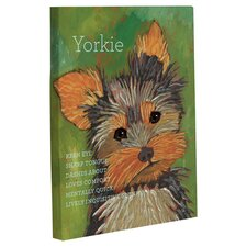 Doggy Decor Yorkie 1 Painting Print on Wrapped Canvas