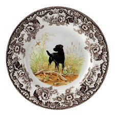 "Woodland 10.5"" Labrador Retriever Dinner Plate"