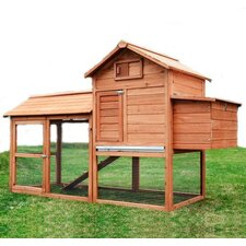 Large Pawhut Chicken Coop with Hinged Roof and Nesting Box by Aosom