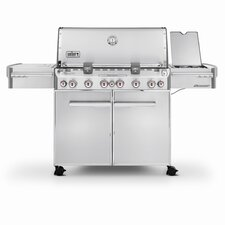 Summit S-670 6-Burner Propane Gas Grill with Smoker