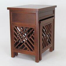 Lattic 2 Piece Nesting Tables by Wayborn