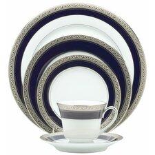 Crestwood Cobalt Platinum 20 Piece Dinnerware Set, Service for 4