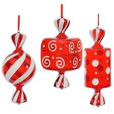 3 Piece Fat Candy Ornament Set