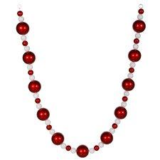 Peppermint Twist Glitter Shatterproof Christmas Ball Garland