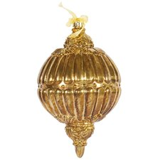 Antique Gold Ball Drop Ornament
