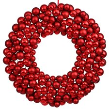 "24"" Shatterproof Ball Ornament Christmas Wreath"
