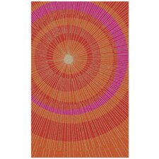 Eccentric Hand-Tufted Orange/Red Area Rug