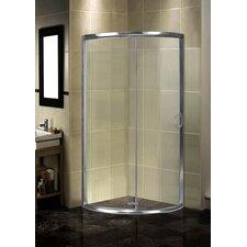 Semi-Frameless 40 x 40 x 75 Round Shower Enclosure by Aston