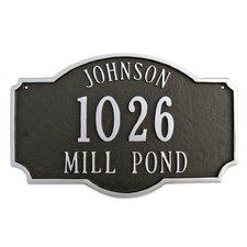 3-Line Address Plaque