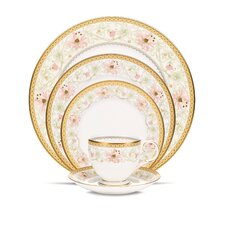 Blooming Splendor Bone China 5 Piece Place Setting, Service for 1