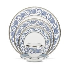 Sonnet Blue Bone China 5 Piece Place Setting, Service for 1