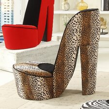 Leopard High Heel Side Chair by Williams Import Co.