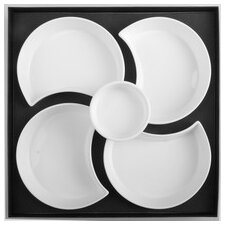 6 Piece Porcelain Daisy Serving Set