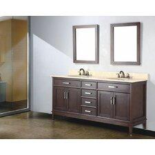 Augusta 72 Double Bathroom Vanity Set with Mirror by Adornus